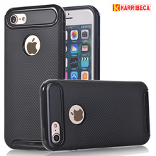 Buy Carbon fiber cover iphone 7 8 plus funda hybrid armor rugged shockproof case iphone X coque etui kryt puzdra tok husa for $6.00 in AliExpress store
