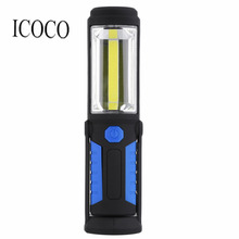 1 LED 1 COB Fishing Light Magnetic Work Hand Lamp Emergency Torch Work Light USB Cable 5W 350 Lumens LED Work Hand Lamp Hot Sale