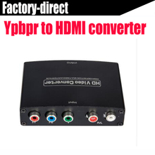 5 RCA Ypbpr component to HDMI HDTV video audio converter adapter with power supply up to 1080P(USB DC cable)(China)
