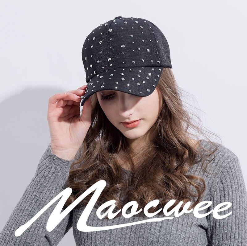 Women Baseball Caps Diamond Tide Cowboy Hat Leisure Wild Summer Visor Cap Bone Snapback Hat Fashion Sun Cap