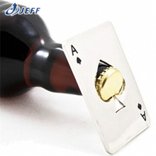 Poker Playing Card Ace Of Spades Bar Tool Soda Beer Bottle Cap Opener Gift EMS Free Shipping
