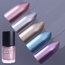 BORN PRETTY Mirror Effect Metallic Nail Lacquer 9ml Metal Rose Gold Purple Silver Nail Polish Varnish Tips Color Decoration(China)