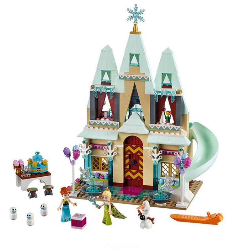 SY371 Cinderellas Yilundaier Castle Anna Elsa figures Building Blocks Educational Brick Toys For Girls<br><br>Aliexpress