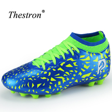 Thestron Football Cleats Shoes Men Anti-Slip Womens Soccer Boots Shockproof Soccer Shoes Kids Light Weight Football Boots New(China)