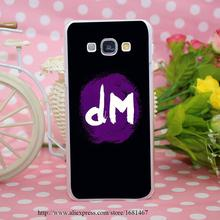 popular hot sale funny Depeche Mode Dm logo Transparent Hard Case Cover for Smasung Galaxy S5 Mini A3 A5 A7 A8 Note 2 3 4 5