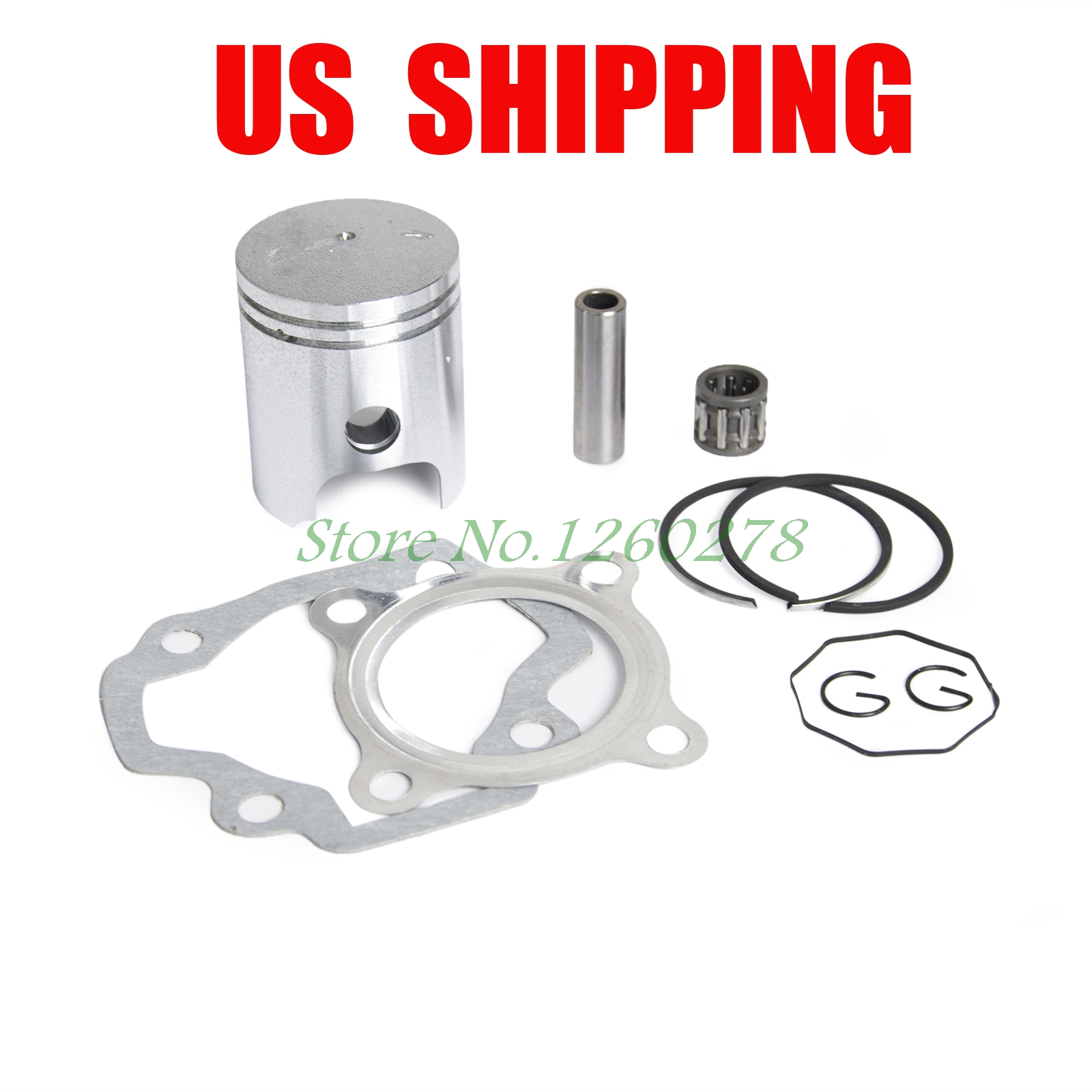 Motorcycle Piston Ring Kit Gasket Wrist Pin Bearing Set For Yamaha PW50 PW 50 Y-Zinger 1979-2009(China)