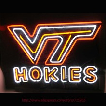 Neon Sign Hokiess University Real Glass Tube Handcrafted neon signs Custom Neon Lamp Recreation Windows Display Attract VD 24x18(China)