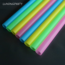 100pcs Colored Diameter 10mm Large Drinking Straws For Bubble Tea Smoothie Milkshake Beverage Drinking Drinkware Party supplies
