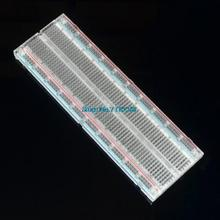Crystal ! 5pcs/lot Solderless Solder Less Breadboard Protoboard 2 buses Tie-point Tiepoint 830 for(China)