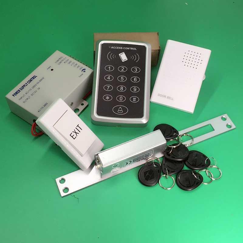 125KHz RFID ID Keyfobs One Door Access Control Machine Kit Long type Fail Safe NO Electric Strike Lock+10 piece RFID tags<br><br>Aliexpress