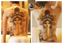 NANI  2pcs Waterproof Temporary Tattoos Sleeve Body Art Men Women Fake Tattoo Back Tattoo Sticker 48*35cm Chinese Retro Pattern