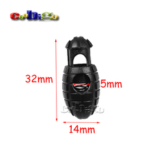 10pcs Plastic Hand Grenade Cord Lock Stopper Rope Clamp Toggle Clip Paracord Boot Shoelace Outdoor Kits#FLS025-B