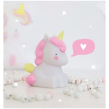 New year Christmas decoration Smile Face Novelty Unicorn Led Night Light Table nightlight Romantic Lamp Kids Children Gift Home(China)