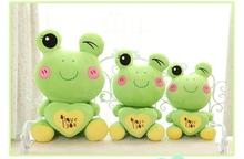 "stuffed animal lovely green frog about 40cm plush toy 15 inch"" i love you "" frog doll gift s7990(China)"