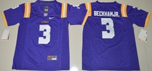 2016 NIKE Youth LSU Tigers Odell Beckham Jr. 3 College Jersey Ice Hockey Jerseys Limited Jersey - Purple Size S,M,L,XL(China)