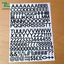 T07066 Eco-friendly 2cm Self Adhesive Vinyl Sticker Letters and numbers Children's indoor green decorative stickers