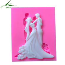 1 Piece New Bride Groom Dance Fondant Silicone Molds For Cake Decorating Tool Sugarcraft Chocolate Wedding Design Gumpaste Mold
