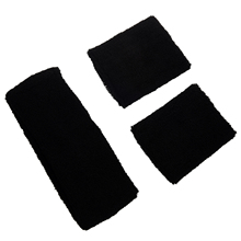 Black Retro 80's Head & Wrist Sweatband Set(China)