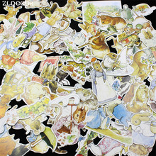 ZLDECOR 100pc Lovely Rabbits Cardstock Die Cuts for Scrapbooking Happy Planner/Card Making/Journaling Project
