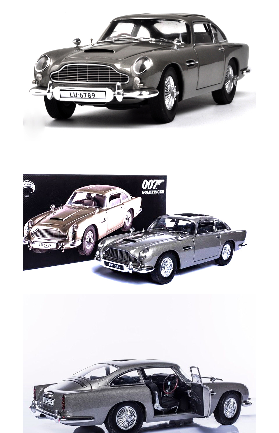 1 18 scale car models 2-4 Years james bond 007 collectables Aston Matin DB5 Diecasts & Toy Vehicles Model Toys For Gifts (7)