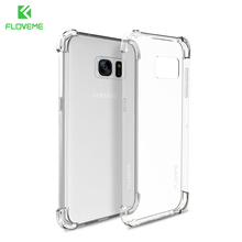 FLOVEME For Samsung S8 Galaxy S8 Plus Note 8 Case Transparent Shockproof Phone Cases For Samsung S8 S7 Edge Silicon Accessories