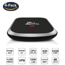Buy 4 PCS Z69 PLUS TV Box Smart Android 7.1 TV Box 3G DDRS 64G HD 2.4G/5G WIFI Set-top Box 1000M Ethernet IPTV Midia Stream Player for $303.99 in AliExpress store