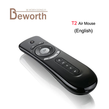 Fly Air Mouse T2 Remote Control 2.4GHz Wireless Gyroscope Keyboard Stick For 3D Sense Game PC Android TV Box Google TV Player T3