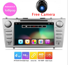 Pure Android 6.0 Car dvd player for Togyota Camry 2007 2008 2009 2010 2011 Capacitive Screen 2 din 8 inch in dash car dvd