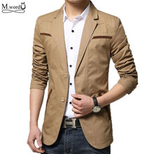 Mqxsd autummn Mens solid Blazer casual men slim fit blazer suit cotton jacket blazer masculino big size 5xl 6xl(China)