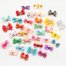 Armi store 20 Pcs Handmade Pet Grooming Accessories Products Dog Bow 6011026 Hair Little Flower Bows For Dogs Charms Gift