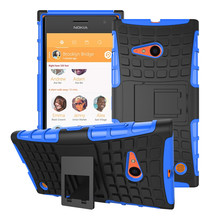 For Nokia Lumia 735 Case 730 Hard Phone Case Heavy Duty Armor Shockproof Hybrid Rugged Rubber Cover for Microsoft Nokia 730 Case