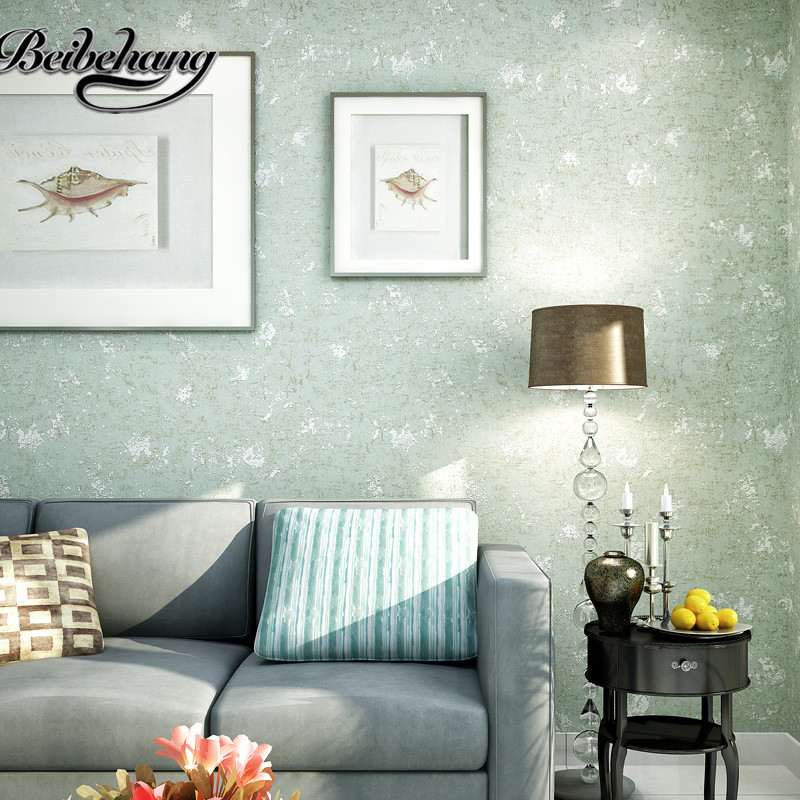 beibehang the old retro mottled gray solid gray concrete industrial wind nonwoven wallpaper plain clothing store bar wallpaper<br>