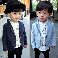 Hot sale 2017 children clothing boys new fashion blazers kids boys spring casual blazers coats 3-8 years !
