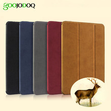 Case for iPad Air 2 / Air 1 Magnetic Matte Leather Smart Cover for iPad Air ( iPad 5 / 6 ) Case Stand Flip Auto Wake / Sleep