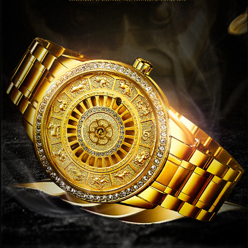 02018 New TEVISE Zodiac Signs Men Watch Automatic Mechanical Wristwatches Limited Edition Watch Men Gold Male Clock saat erkekler (4)