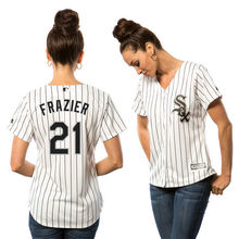 MLB Women's Chicago White Sox Todd Frazier White Home Cool Base Player Jersey(China)