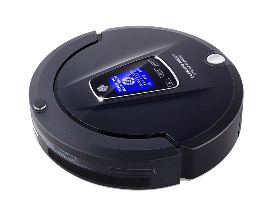 Free Shipping 4 in 1 Multifunction (Sweep,Vacuum,Mop,Sterilize) Household Bagless Vacuum Cleaner Robot With Schedule, LCD Touch(China (Mainland))