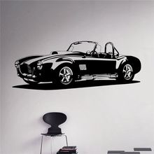 Classic Car Wall Decal Racing Car Vinyl Sticker Racing Car Home Decor Ideas Wall Art Interior Removable Design  X025