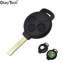 OkeyTech Car Styling Remote Key Keyless Entry Fob 3 Button MERCEDES BENZ MB Smart 451 433MHZ ID46 7941 Tranponder Chip