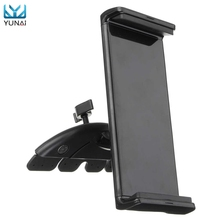 YUNAI Universal Car CD Slot Mobile Phone Tablet Mount Holder Stand For Ipad For Samsung Adjustable 10inch Tablets Holder Stander