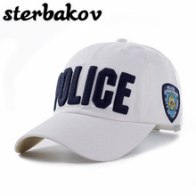 100% cotton Adults and children Police Baseball Cap Men Tactical Cap Mens Baseball Caps Brand Snapback Trucker Hat For Man Women(China)