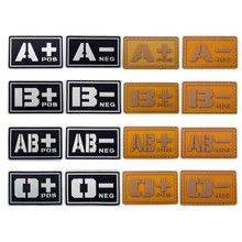 PVC Blood Type A+ B+ AB+ O+ Patches Yellow White 2 colors 5*2.6CM
