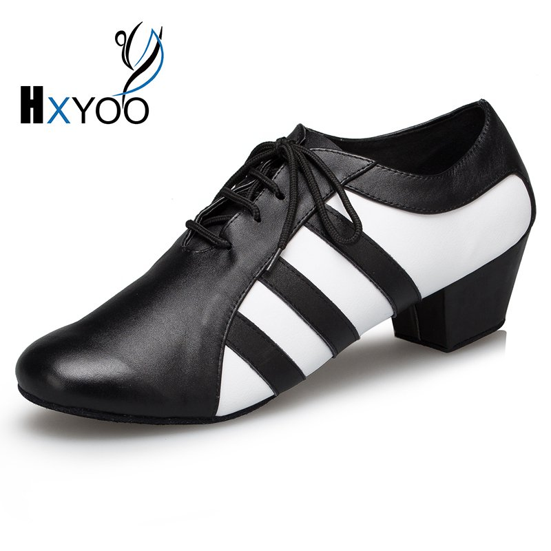 HXYOO 2017 New Model Men Latin Dance Shoes  Ballroom Shoes Salsa Tango Zebra 2.5 or 4 cm heel L176<br>