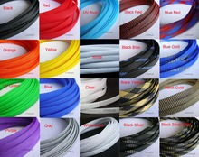 "12MM 15/32"" TIGHT Braided PET Expandable Sleeving Cable Wire Sheath 1 Meter(China)"