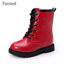 2017 new Autumn Children shoes  boys and girls leather shoes wear non-slip shoes children boots boys and girls boots