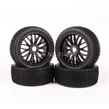 4 PCS/Set 1:8 RC Off-Road Tires Tyre Wheel Rim For HPI Traxxas Car Buggy Rubber Tires Remote Control Toy Model Car Accessories G