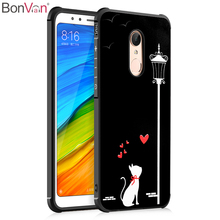 BONVAN 3D Painted Fadeless For Xiaomi Redmi 5 5A Case Full Protective Phone Cases For Xiaomi Redmi 5 Plus Soft Silicone Cover(China)