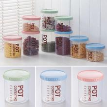 1PC Plastic Food Storage Container Fridge Organizer Seal Transparent with Scale Storge Box Canister Crops Beans Grains Snacks W5
