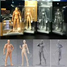 Anime Figma Archetype He She Ferrite Figma Movable BODY KUN BODY CHAN PVC Action Figure Model Toys Doll for Collectible(China)