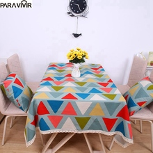 2017 New Arrival Table Cloth Geometric High Quality Lace Tablecloth Decorative Elegant Table Cloth Linen Coffee Table Cover